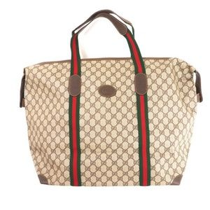 Gucci Extra Large GG Duffel Travel Zipped Tote